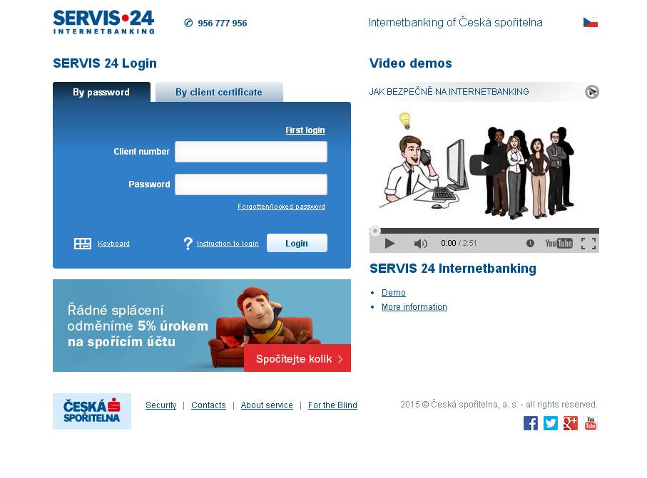 Servis 24 Internetbanking České spořitelny