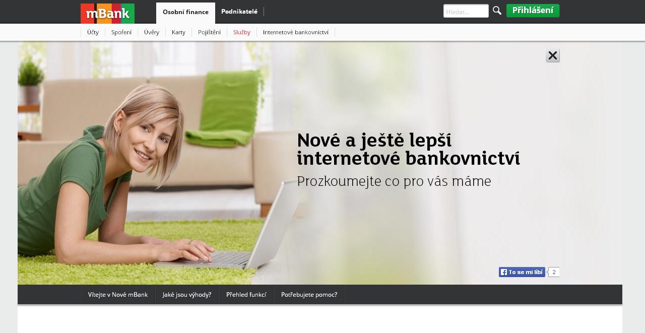 Internetová banka mBank